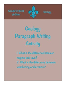 Geology Paragraph-Writing Activities