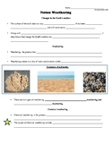 Geology: Physical vs. Chemical Weathering Lesson w/ Notes, Student Handout