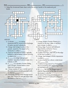 Geology-Planet Earth Crossword Puzzle