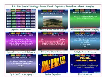 Geology-Planet Earth Jeopardy PowerPoint Game