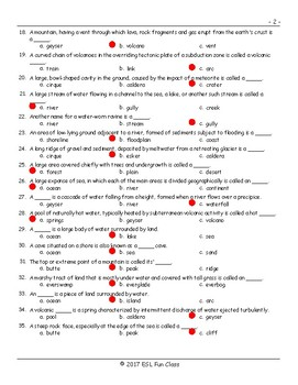 Geology-Planet Earth Multiple Choice Exam