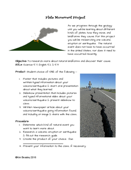 Geology: Plate Movement Project