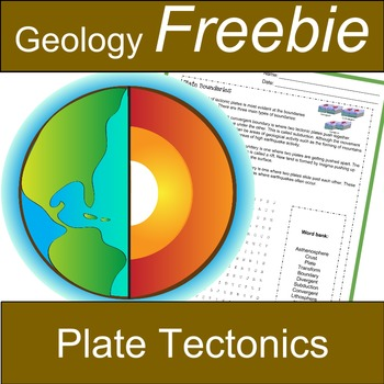 Plate Tectonics Freebie: Divergent, Transform and Convergent Boundaries and more