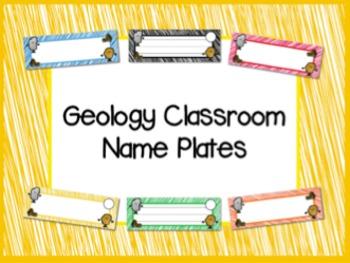 Geology ROCKS! Name Plates
