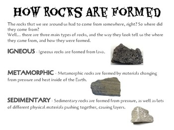 Geology Rock Observation and Comparisons Unit