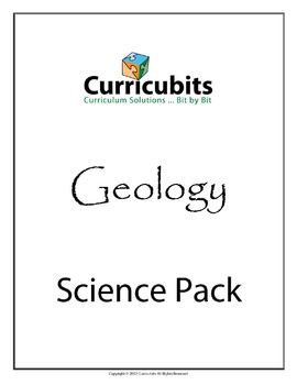 Geology Science Bundle | Themed Scripted Afterschool Activities