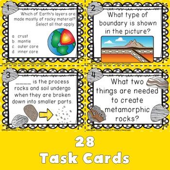 Geology Task Cards