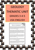 Geology Thematic Unit for Grades 3-4-5