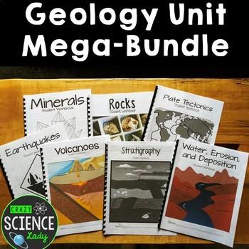 Geology Unit Mega Bundle with Student Workbooks