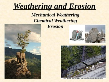 Geology: WEATHERING and EROSION PPT (with AMAZING alternative QUIZ!)