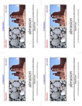 Geology Word Cards