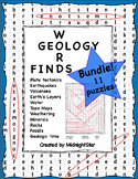 Geology Word Find Bundle! MidnightStar