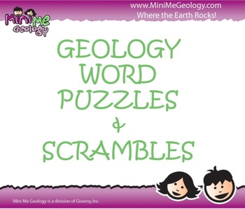 Geology Word Puzzles and Word Scrambles
