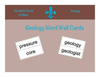 Geology Word Wall Cards