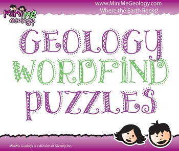 Geology Wordfind Puzzles