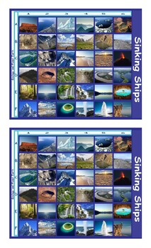 Geology and Planet Earth Legal Size Photo Battleship Game