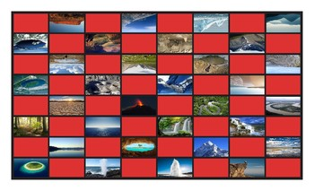 Geology and Planet Earth Legal Size Photo Checkerboard Game