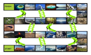 Geology and Planet Earth Legal Size Photo Chutes and Ladders Game