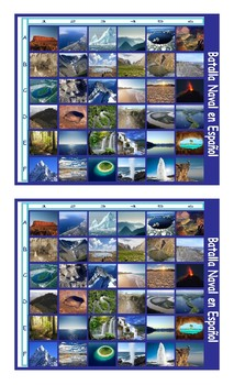Geology and Planet Earth Spanish Legal Size Photo Battleship Game2