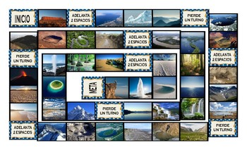 Geology and Planet Earth Spanish Legal Size Photo Board Game