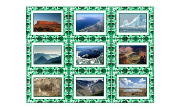 Geology and Planet Earth Spanish Legal Size Photo Card Game