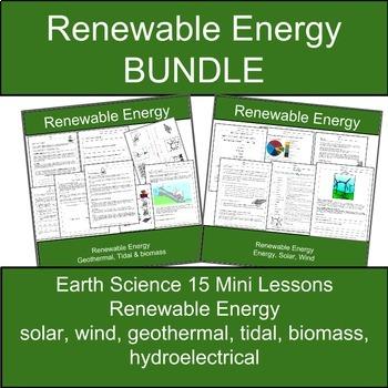 Geology and Renewable Energy Science BUNDLE