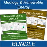 Renewable Energy Worksheets and Geology FUN Science BUNDLE