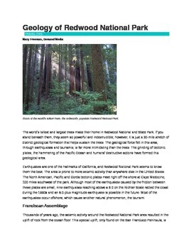 Geology in Redwood National Park