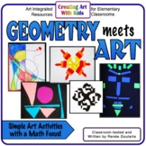 Art Activities Geometry Integrated Distance Learning freakout2021