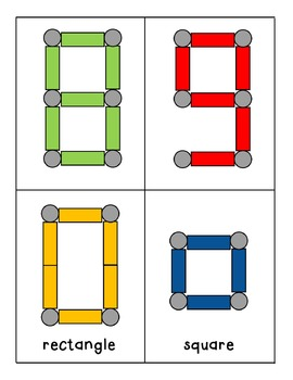 Geomags Task Cards Numbers & Shapes