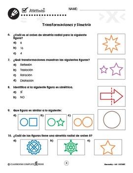 Geometría: Transformaciones y Simetría Gr. 3-5