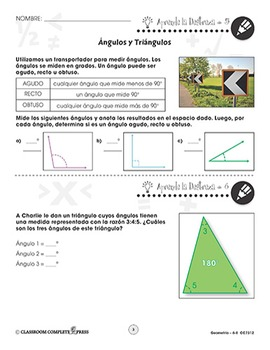 Geometría: Ángulos y Triángulos Gr. 6-8
