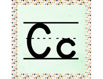 Geometric ABC Word Wall Letters