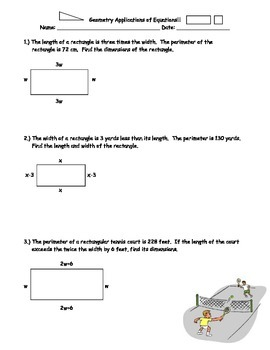 Geometric Applications of Equations