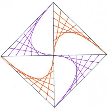 Geometric Art:   Line Designs, Angle Measure, and Circles