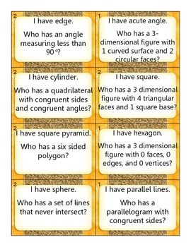 Geometric Attributes: I have... Who has?