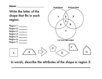 Geometric Attributes of Quadrilaterals Assessment