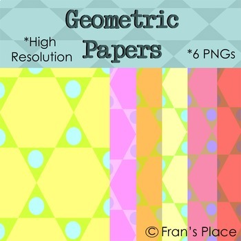 Backgrounds: Geometric Shape theme; Clip Art Graphics