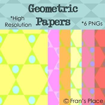 Backgrounds: Geometric Shape theme; Clip Art Graphics