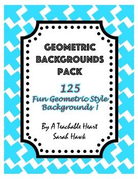Geometric Backgrounds Pack- 125 Digital Backgrounds & Scrapbook Paper