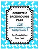 Geometric Backgrounds Pack- 125 Digital Backgrounds & Scra