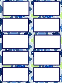 Geometric Blue and Green Glitter Management Printable