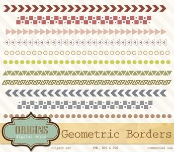 Geometric Borders Clipart