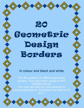 Geometric Borders - Colour and B & W