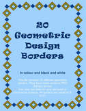 Geometric Borders - Colour and B & W