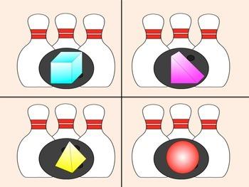 Geometric Bowling - File Folder Activity