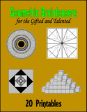 Geometric Brainteasers for the Gifted and Talented