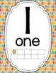 Geometric Classroom Decor: Number Posters