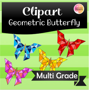 Geometric Butterfly Clipart!!