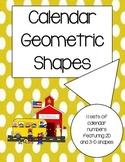 Geometric Calendar Numbers for any Calendar (Classroom Decor)